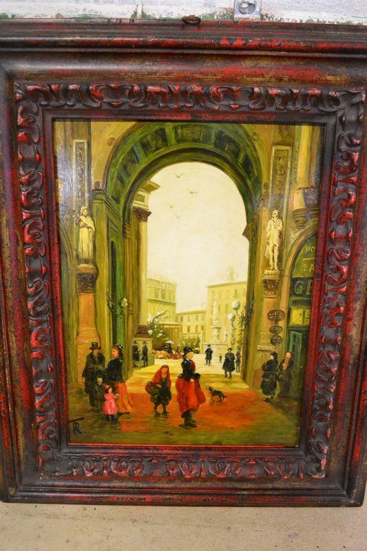 Dipinto raffigurante galleria di milano il tempo dei for Compravendita antiquariato