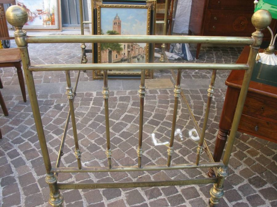 Letto singolo ottone il tempo dei ricordi antichit e restauro compravendita antiquariato - Letto in ottone rovinato ...